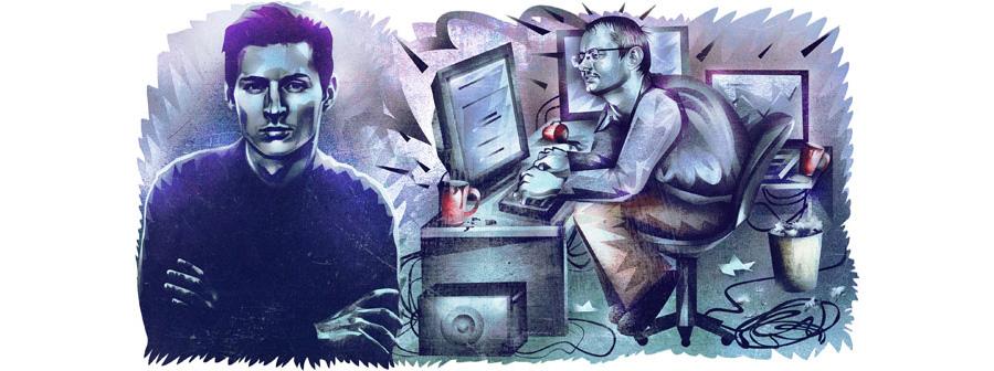 پاول دورف و نیکولای دورف برادران تاسیس کننده تلگرام