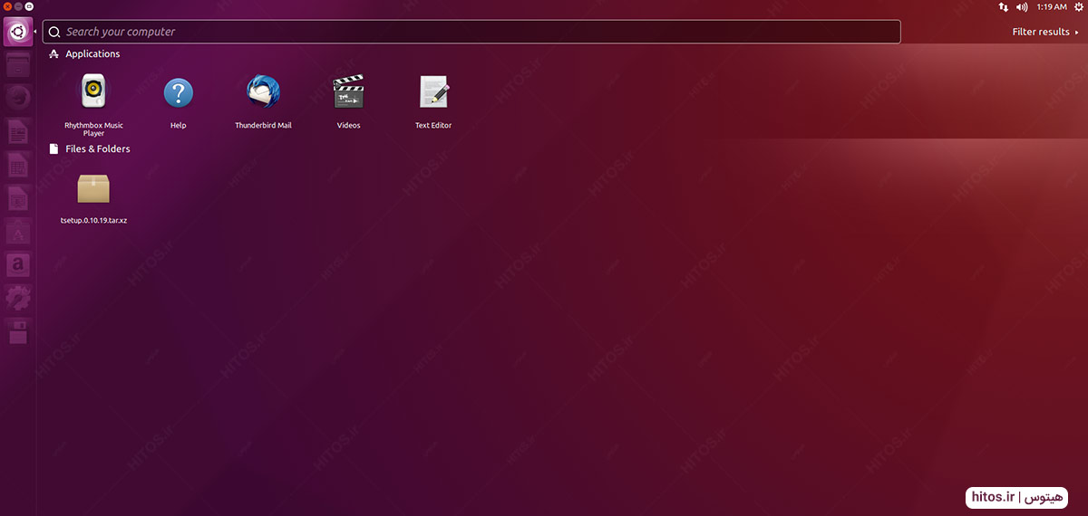 سرچ برنامهها در ubuntu