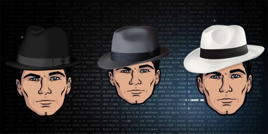 هکر کلاه سیاه کلاه سفید و کلاه خاکستری