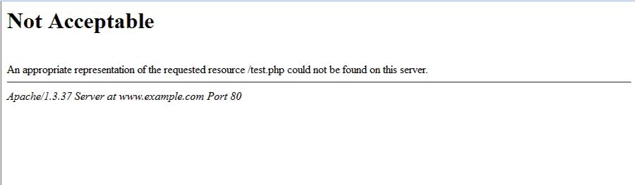 خطای Not Acceptable هنگام انجام نفوذ SQL Injection