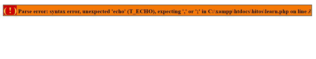 دستورات اشتباه PHP