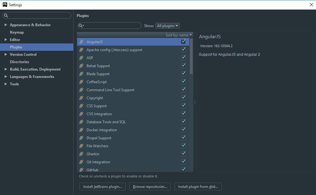 اضافه کردن plugin در phpstorm