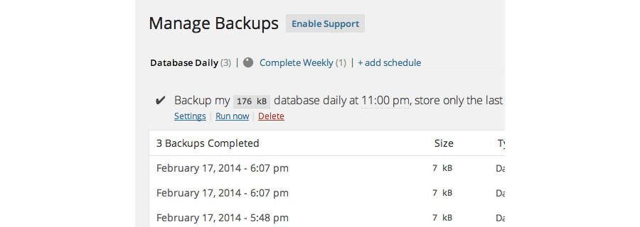 پشتیبان گیری backupwordpress