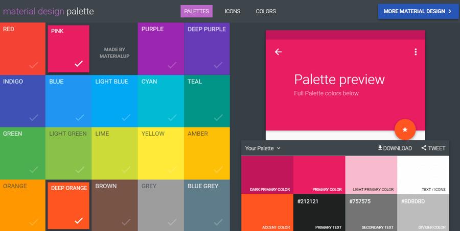 طراحی متریال دیزاین و انتخاب رنگ بندی مناسب