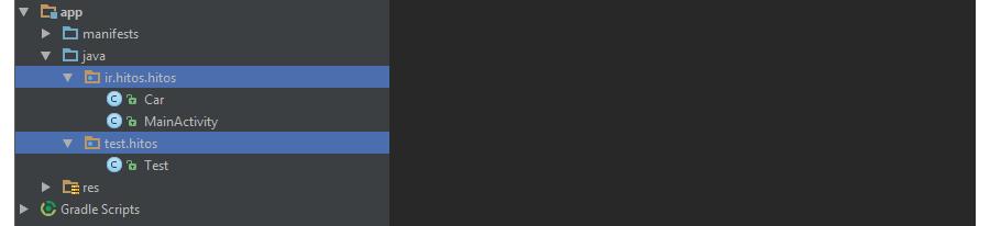 ایجاد پکیج برای آموزش شی گرایی و oop در برنامه نویسی جاوا و اندروید